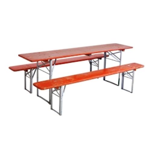 German Biergarten Table Red
