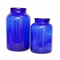 Mason Jar Cobalt